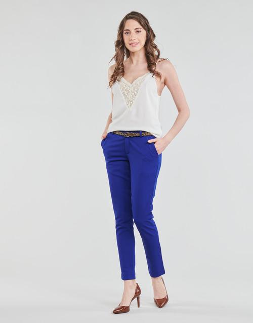 tekstylia Damskie Spodnie z pięcioma kieszeniami Betty London BERTHA Niebieski