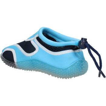 Buty Chłopiec Trampki Everlast sneakers blu tessuto celeste gomma AF852 Multicolore