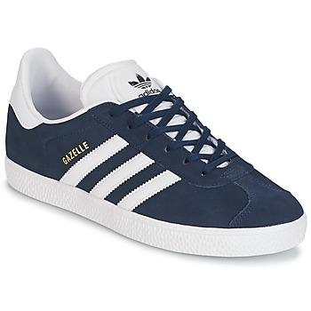 Buty Dziecko Trampki niskie adidas Originals GAZELLE J Marine