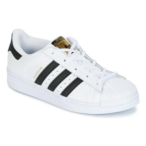 Buty Dziecko Trampki niskie adidas Originals SUPERSTAR Biały / Czarny