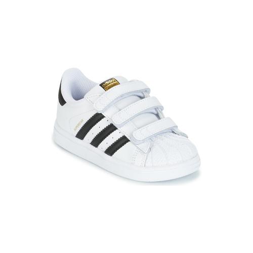 Buty Dziecko Trampki niskie adidas Originals SUPERSTAR CF I Biały / Czarny