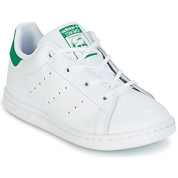 Buty Dziecko Trampki niskie adidas Originals STAN SMITH I Biały / Zielony
