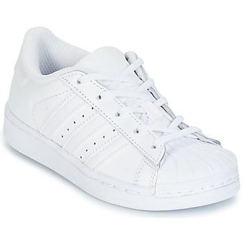 Buty Dziewczynka Trampki niskie adidas Originals SUPERSTAR Biały