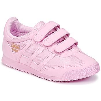 Buty Dziewczynka Trampki niskie adidas Originals DRAGON OG CF I Różowy