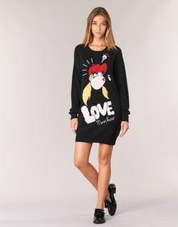 tekstylia Damskie Sukienki krótkie Love Moschino WS45S01X0608 Czarny