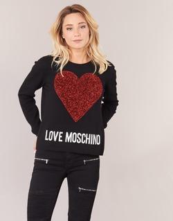 tekstylia Damskie Swetry Love Moschino WS89G01X0683 Czarny