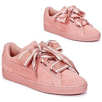 Buty Damskie Trampki niskie Puma Basket Heart Satin Różowy