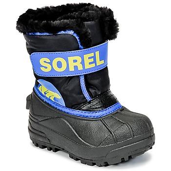 Buty Dziecko Śniegowce Sorel CHILDRENS SNOW COMMANDER Czarny / Niebieski