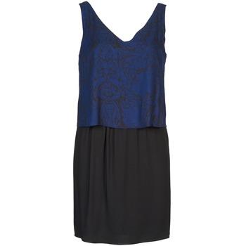 tekstylia Damskie Sukienki krótkie Naf Naf LORRICE Czarny / Niebieski