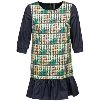 tekstylia Damskie Sukienki krótkie Naf Naf ECAPS Czarny / Wielokolorowe