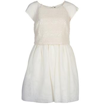 tekstylia Damskie Sukienki krótkie Naf Naf LYMELL Biały
