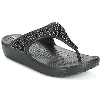 Buty Damskie Japonki Crocs SLOANE Czarny