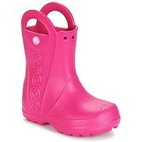 Buty Dziewczynka Kalosze Crocs HANDLE IT RAIN BOOT Różowy