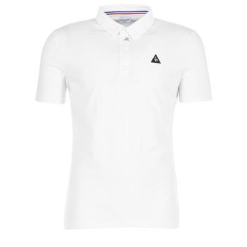 tekstylia Męskie Koszulki polo z krótkim rękawem Le Coq Sportif LCS TECH POLO Biały