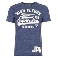 tekstylia Męskie T-shirty z krótkim rękawem Superdry HIGH FLYERS REWORKED MARINE