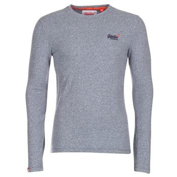 tekstylia Męskie T-shirty z długim rękawem Superdry ORANGE LABEL VINTAGE Szary