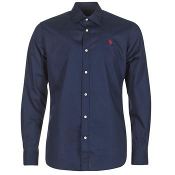 tekstylia Męskie Koszule z długim rękawem U.S Polo Assn. ZED MARINE