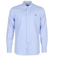 tekstylia Męskie Koszule z długim rękawem U.S Polo Assn. CALE Niebieski