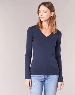 tekstylia Damskie T-shirty z długim rękawem Petit Bateau LEOSA Marine