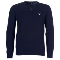 tekstylia Męskie Swetry Gant SUPER FINE LAMBSWOOL V-NECK Marine