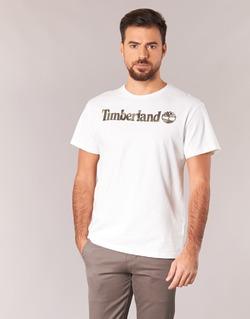 tekstylia Męskie T-shirty z krótkim rękawem Timberland DUNSTAN RIVER CAMO PRINT Biały