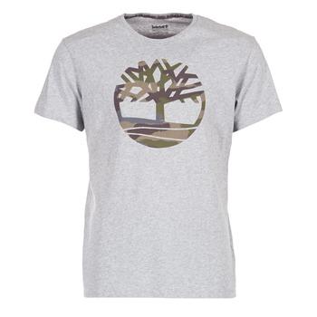 tekstylia Męskie T-shirty z krótkim rękawem Timberland DUNSTAN RIVER CAMO PRINT Szary