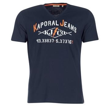 tekstylia Męskie T-shirty z krótkim rękawem Kaporal MAKAO MARINE