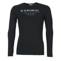 tekstylia Męskie T-shirty z długim rękawem Kaporal PONIO Czarny