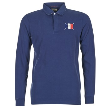 tekstylia Męskie Koszulki polo z długim rękawem Serge Blanco POCHON Marine