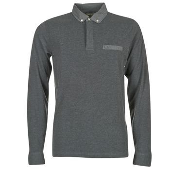 tekstylia Męskie Koszulki polo z długim rękawem Serge Blanco POCHA Czarny / Szary