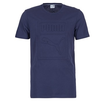 tekstylia Męskie T-shirty z krótkim rękawem Puma ARCHIVE EMBOSSED LOGO TEE MARINE