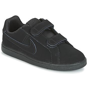 Buty Chłopiec Trampki niskie Nike COURT ROYALE PRE-SCHOOL Czarny