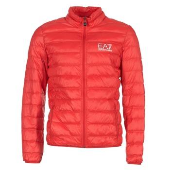 tekstylia Męskie Kurtki pikowane Emporio Armani EA7 TRAIN CORE ID DOWN LIGHT JKT Czerwony