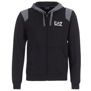 tekstylia Męskie Bluzy Emporio Armani EA7 TRAIN TRITONAL M HOODIE FZ Czarny