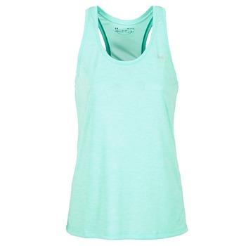 tekstylia Damskie Topy na ramiączkach / T-shirty bez rękawów Under Armour TECH TANK - SOLID Zielony