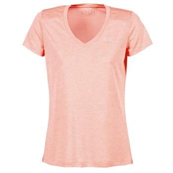 tekstylia Damskie T-shirty z krótkim rękawem Under Armour TECH SSV - TWIST Koral