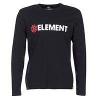 tekstylia Męskie T-shirty z długim rękawem Element BLAZIN LS Czarny