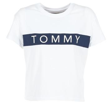 tekstylia Damskie T-shirty z krótkim rękawem Tommy Jeans THDW CN T-SHIRT S/S 26 Biały / Marine