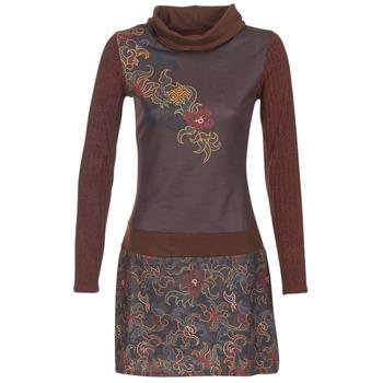 tekstylia Damskie Sukienki krótkie Smash NANCY Brązowy