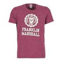 tekstylia Męskie T-shirty z krótkim rękawem Franklin & Marshall GRAVI BORDEAUX