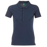 tekstylia Damskie Koszulki polo z krótkim rękawem Benetton MAJOU MARINE
