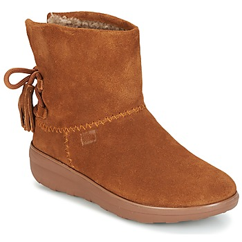 Buty Damskie Botki FitFlop MUKLUK SHORTY II BOOTS  WITH TASSELS Chestnut