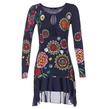 tekstylia Damskie Sukienki krótkie Desigual GRUFI Niebieski