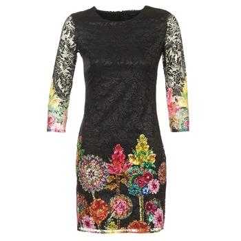 tekstylia Damskie Sukienki krótkie Desigual GRAFI Czarny