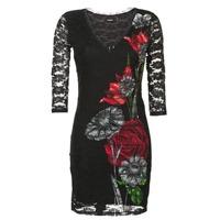 tekstylia Damskie Sukienki krótkie Desigual GRAFE Czarny