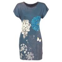 tekstylia Damskie Sukienki krótkie Desigual MARTI Niebieski