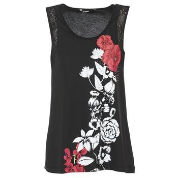 tekstylia Damskie Topy na ramiączkach / T-shirty bez rękawów Desigual MAGEIS Czarny