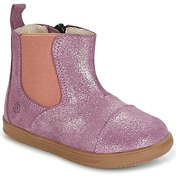 Buty Dziewczynka Buty za kostkę Citrouille et Compagnie HUETTE Różowy
