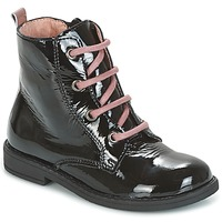 Buty Dziewczynka Buty za kostkę Citrouille et Compagnie HEMANU Czarny / Różowy