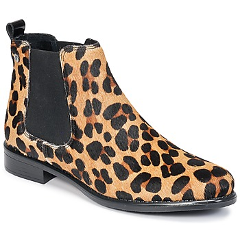 Buty Damskie Buty za kostkę Betty London HUGUETTE Leopard